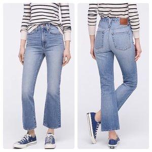 J.Crew Point Sur rigid kick out crop jeans NWT